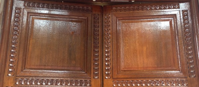 Restoring Grade Ii Listed Oak Entrance Doors Paleambe