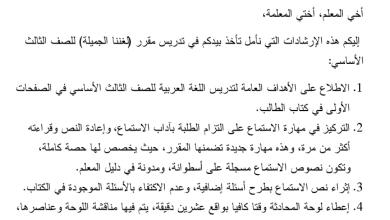 Photo of دليل رائع لتنفيذ مبحث اللغة العربية الفصل الأول الصف الثالث