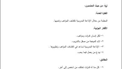 صورة تحليل رائع لمحتوى مبحث اللغة العربية الصف الرابع الفصل الأول