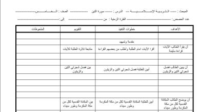 Photo of إعداد دروس مبحث التربية الإسلامية الصف الخامس الفصل الأول