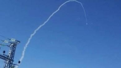 صورة إسقاط طائرة بدون طيار فوق الجولان بصاروخ باتريوت