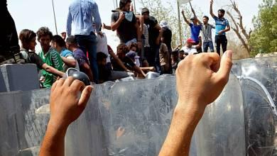 Photo of الشرطة العراقية نجحت في تفريق المئات عند حقل الزبير النفطي