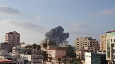 Photo of طائرات الاحتلال تستهدف مبنى المسحال غرب غزة
