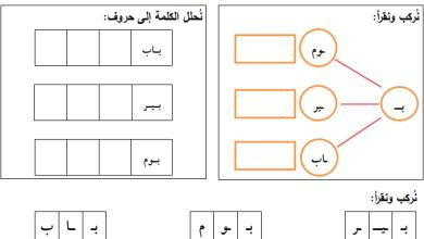 صورة مجمع أوراق عمل الدرس الثالث لكافة المواد الدراسية الصف الأول الفصل الأول