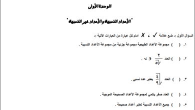 Photo of أوراق عمل رائعة لوحدة الأعداد النسبية وغير النسبية لرياضيات الصف الثامن