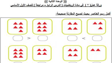 Photo of مراجعة رائعة جدا للوحدة الثانية لمبحث رياضيات الصف الأول الفصل الأول