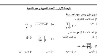 صورة المراجعة النهائية والهامة لكامل مبحث الرياضيات للصف الثامن الفصل الأول