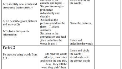 Photo of تحضير رائع لدروس مبحث اللغة الإنجليزية للصف السابع الفصل الثاني