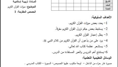 Photo of تحضير رائع لدروس مبحث التربية الإسلامية والتلاوة للصف السادس الفصل الثاني