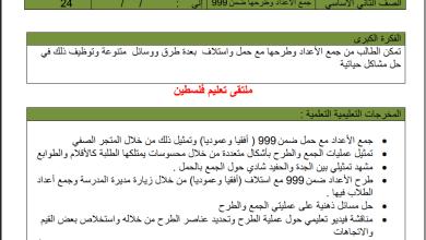 Photo of التحضير الكامل بالمخرجات لمبحث الرياضيات للصف الثاني الفصل الثاني