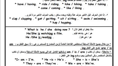 Photo of تلخيص هام جدا لقواعد اللغة الإنجليزية مع ترجمة للعربية للصف الخامس الفصل الثاني