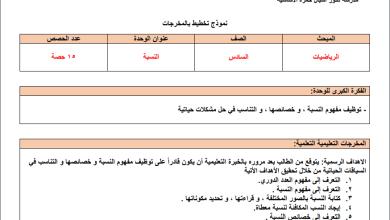 Photo of التحضير الرائع بالمخرجات للوحدات 1-3 لمبحث رياضيات سادس الفصل الثاني
