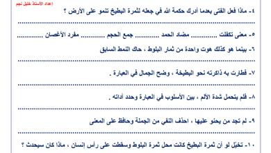 Photo of أوراق عمل رائعة لدروس وحدة الفيلسوف الصغير للغة العربية خامس الفصل الثاني