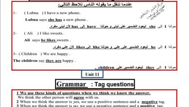 Photo of تلخيص رائع وهام مع شرح بالعربية لقواعد اللغة الإنجليزية للصف السابع الفصل الثاني