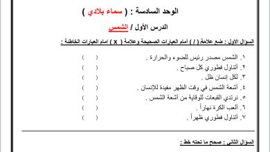 Photo of أوراق عمل رائعة لوحدة سماء بلادي لمبحث التربية الوطنية ثاني الفصل الثاني