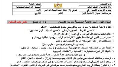 Photo of امتحانات حكومة حصرية ورائعة لنهاية الفصل الثاني لمبحث الدراسات للصف الثامن