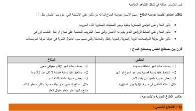Photo of مراجعة نهائية مجابة وهامة جدا لامتحان الدراسات الجغرافية الإنجاز للفرع الأدبي