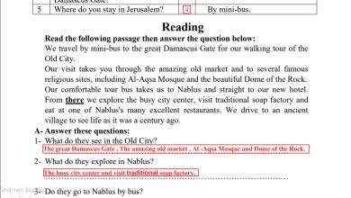 Photo of مراجعة ليلة الامتحان النهائي الرائعة والمجابة للغة الإنجليزية تاسع الفصل الأول