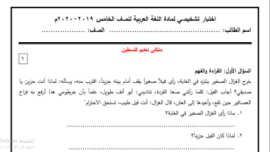 Photo of امتحانات تشخيصية رائعة للغة العربية والرياضيات واللغة الإنجليزية للصف الخامس