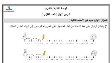 Photo of ورقة عمل رائعة لدرس العدد القفزي لمبحث الرياضيات للصف الثاني الفصل الثاني