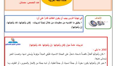 صورة إجابة الدروس 4-6 من المادة الاستدراكية لمبحث اللغة العربية للصف التاسع