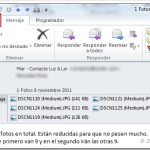 Outlook 2010: guardar o quitar datos adjuntos