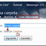 SkyDrive: nuevas carpetas – conceder permisos
