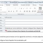 Outlook 2010: Enviar a destinatario de correo (mensaje con firma)