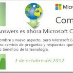 Microsoft Answers = Microsoft Community