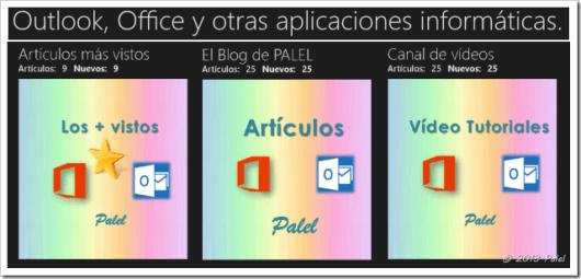 Las 3 secciones de la aplicación