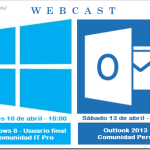 WebCast para el mes de abril: Windows 8 y Outlook 2013