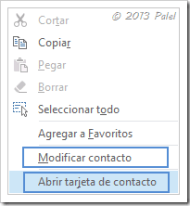 Contactos Outlook 2013 4
