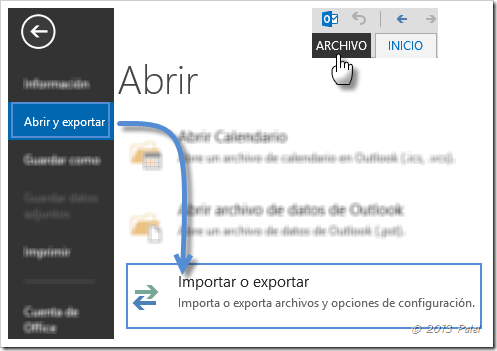 Fuentes RSS en Outlook 7