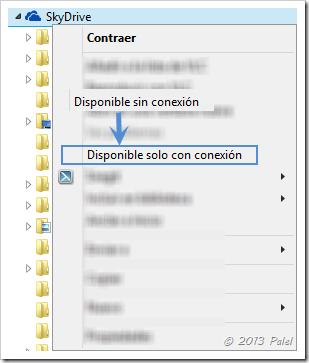 SkyDrive sin conexión