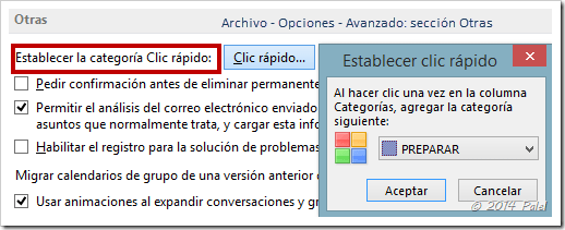 Cuentas IMAP - Categorías