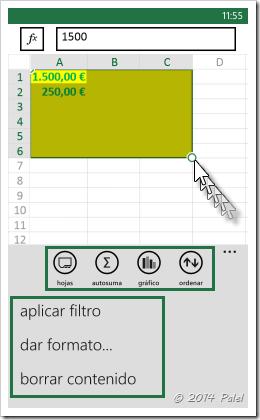 Excel Mobile: Copiar y Pegar celdas - Imagen 4