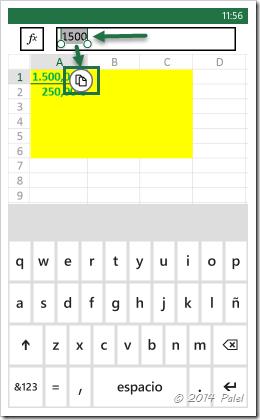 Excel Mobile: Copiar y Pegar celdas - Imagen 5