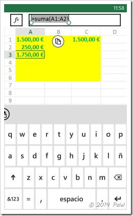 Excel Mobile: Copiar y Pegar celdas - Imagen 9