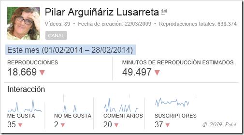 Estadísticas PALEL - Febrero 2014