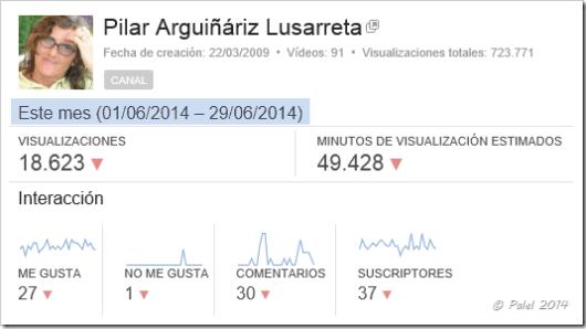 Estadísticas junio 2014 - Palel.es