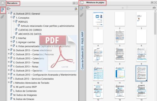 Estructura y lectura con Adobe Reader: marcadores y miniaturas para un mayor control