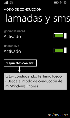 Modo conducción en Windows Phone - palel.es