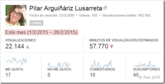 Estadísticas febrero 2015 - Palel.es