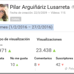 [Blog – YouTube] Estadísticas febrero 2016