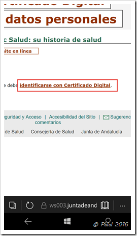 Windows Phone/Mobile - Certificados digitales
