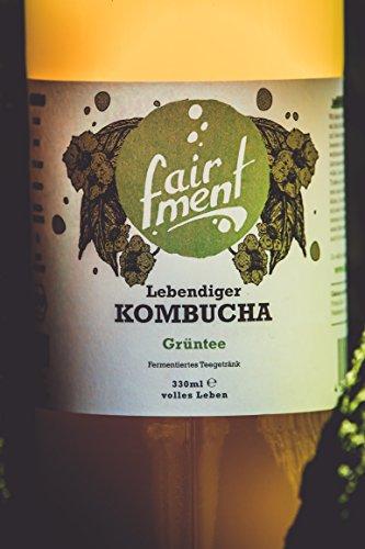 3 Liter Original Bio Kombucha Tee Getränk natürlich fermentiert und nicht pasteurisiert / Rohkost (3er Mix) - 3