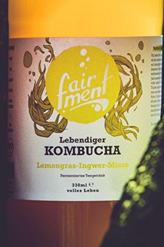 3 Liter Original Bio Kombucha Tee Getränk natürlich fermentiert und nicht pasteurisiert / Rohkost (3er Mix) - 4