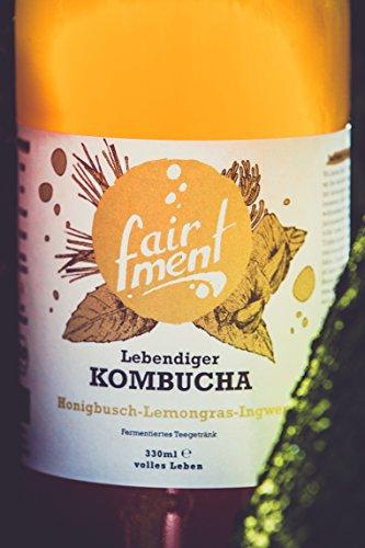3 Liter Original Bio Kombucha Tee Getränk natürlich fermentiert und nicht pasteurisiert / Rohkost (3er Mix) - 5