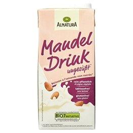 Alnatura Bio Mandeldrink, ungesüßt, glutenfrei, laktosefrei, vegan, 12er Pack (12 x 1 kg) - 1