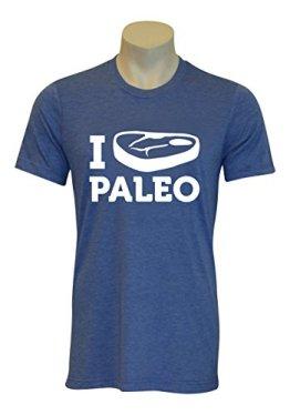AMRAP I love Paleo T-Shirt (Hellblau, M) - 1